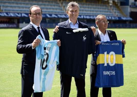 François Hollande et son homologue argentin, Mauricio Macri , le 25 février.