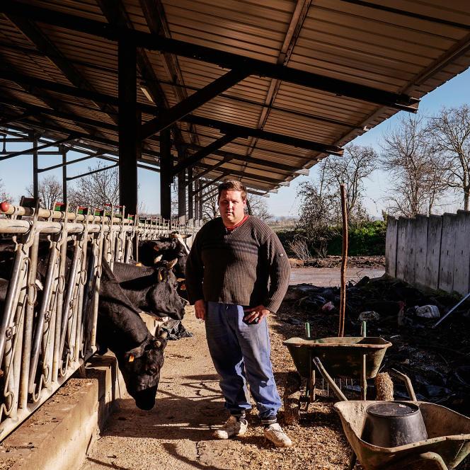 Didier Mélou, 30 ans, agriculteur à Verfeil (Haute-Garonne), le 5 février 2016.