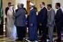 L'ambassadeur saoudien au Liban, Ali Awad Assiri, reçoit des hommes politiques libanais à Beyrouth, mercredi 24 février.