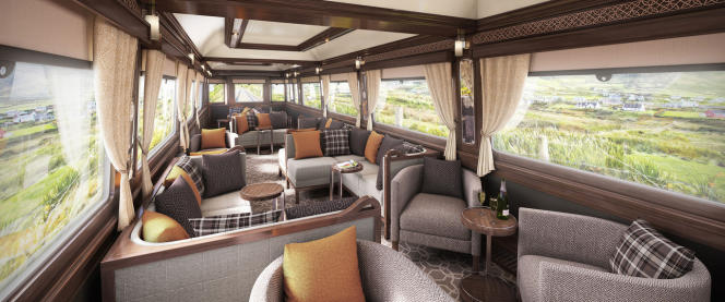Le wagon panoramique du Belmond Grand Hibernian