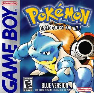 Pokémon version bleue.