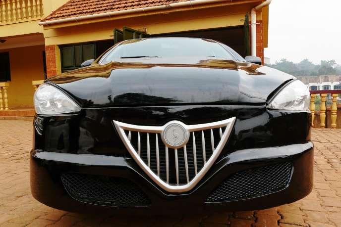 Un prototype de la Kiira Smack, voiture 100% ougandaise, à Kampala.