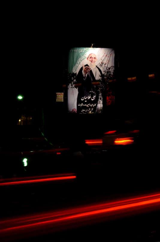 L'affiche du candidat Ali Fallahian à Téhéran le 23 février 2016.