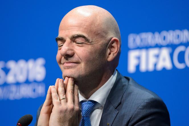 Gianni Infantino a été élu à la tête de la FIFA en février 2016, en remplacement deSepp Blatter.