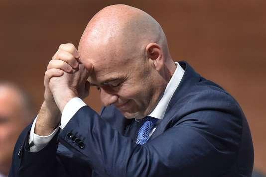 Le nouveau président de la FIFA, Gianni Infantino, lors du Congrès Extraordinaire de la FIFA à Zurich le 26 février 2016.