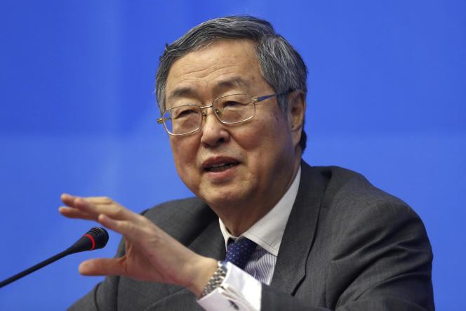 Le gouverneur de la banque centrale de Chine (PBoC), Zhou Xiaochuan, le 26 février, à Shanghaï.