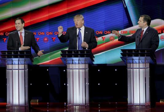 Distancés lors des premières primaires républicaines, les deux sénateurs ont multiplié les critiques contre le magnat de l'immobilier.