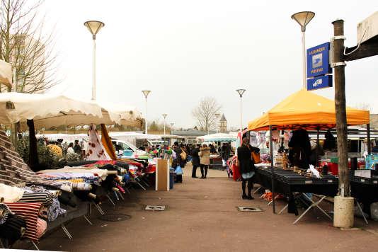 Le marché des Champs-Plaisants, à Sens, mercredi 24 février.