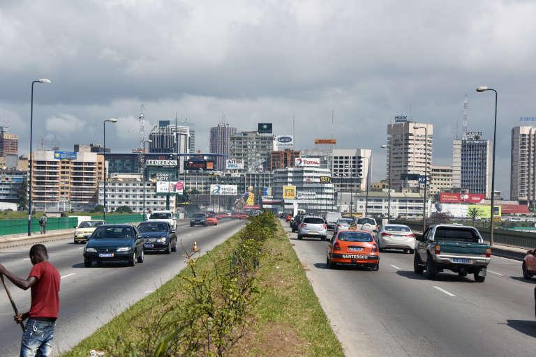 L'avenue du général de Gaulle à Abidjan, septembre 2014.