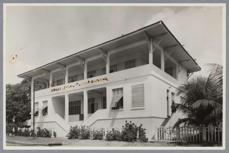 Le bâtiment du siège de l'AFD à son ouverture, à Abidjan.
