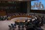 Le Conseil de sécurité des Nations unies vote la résolution soutenant un cessez-le-feu en Syrie, à New York, le 26 février.