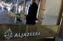 Un employé pénètre dans le centre de diffusion d'Al Jazeera Amérique au centre de Manhattan, à New York,le 13 janvier 2016. Al Jazeera Amérique s'arrête moins de trois ans après son lancement.
