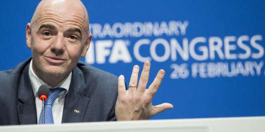 Le nouveau président de la FIFA, Gianni Infantino, le 26 février à Zurich.