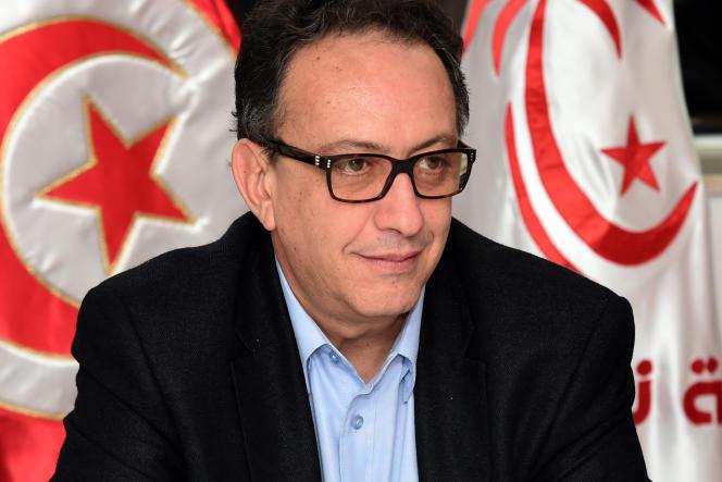 Hafedh Caïd Essebsi, à la tête de Nidaa Tounes, le parti dominant la coalition gouvernementale à Tunis.