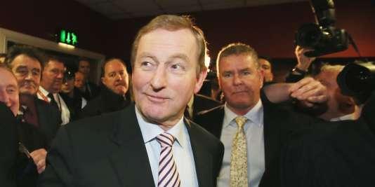 Le premier ministre irlandais, Enda Kenny, à Castlebar, en Irlande, le 27 février 2016.
