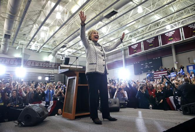 Hillary Clinton, à l'université de Caroline du Sud, à Columbia, le 27 février.
