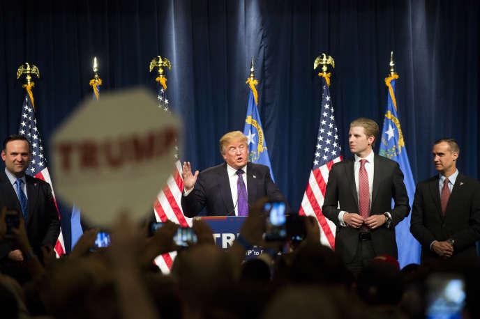 Donald Trump à Las Vegas dans le Nevada.