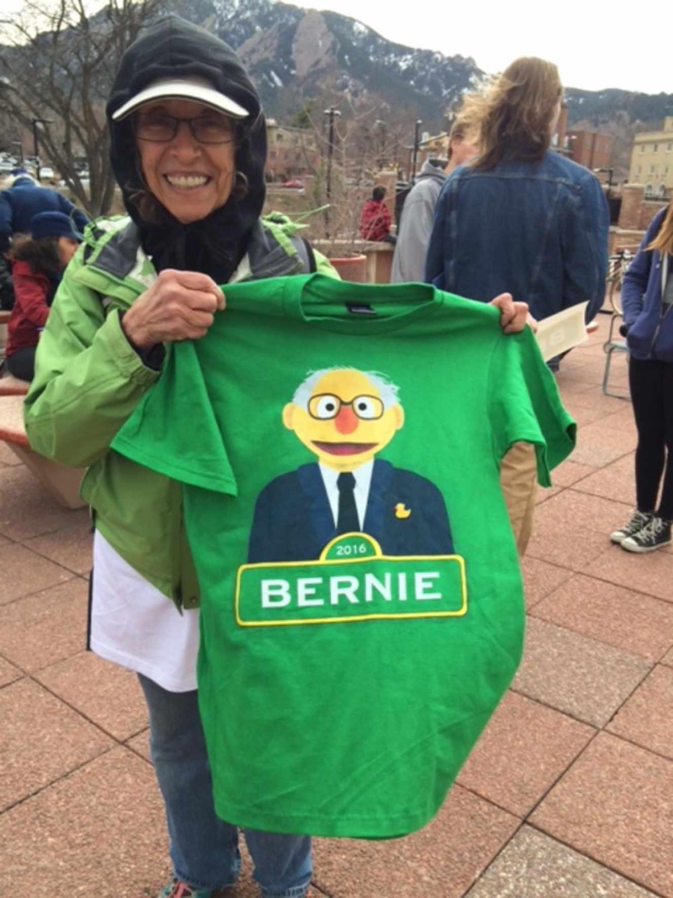 Susan Northleaf, 69 anos, Participará da primeira terça-feira a um caucus, Boulder (Colorado).