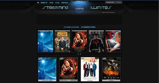 Capture d'écran du site Full-stream.net en 2014.