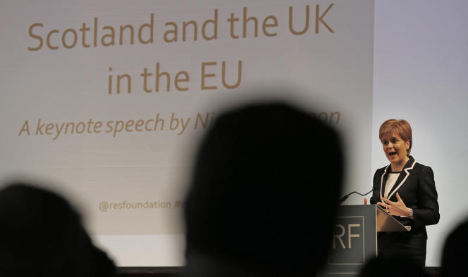 Nicola Sturgeon, la dirigeante du Parti national écossais (SNP, indépendantiste), à Londres, le 29 février.