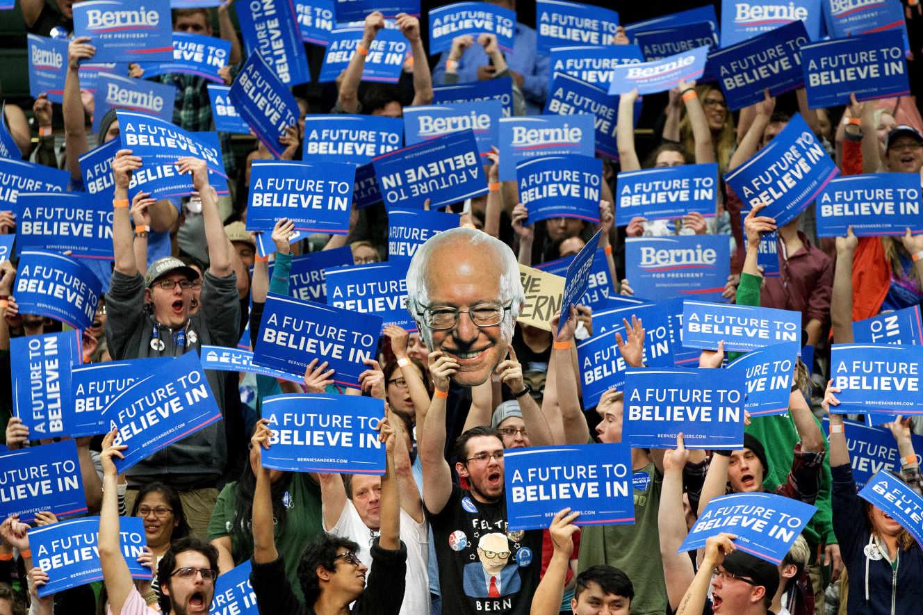 Una reunió de Bernie Sanders amb Fort Collins, al Colorado, 28 de febrer.