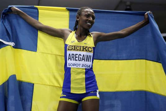 La Suédoise Abeba Aregawi, dont le contrôle positif au meldonium a été annoncé le 29février 2016.