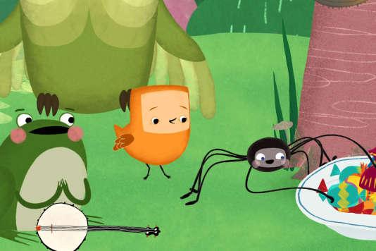 """Une image du programme de cinq courts-métrages d'animation, """"Ma petite planète verte""""."""
