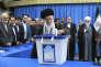Le Guide suprême Ali Khamenei, lors des élections iraniennes du 26 février.