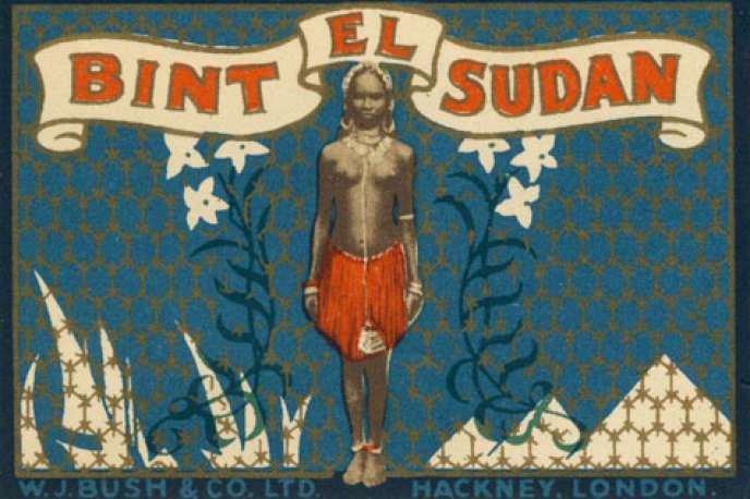L'étiquette du parfum Bint el-Sudan, inchangée depuis sa création en 1920.