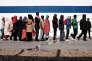 Des migrants à Lampedusa en Italie en février 2015.