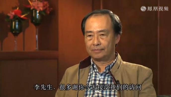 Capture d'écran de l'interview de Lee Bo diffusée lundi 29 février sur Phoenix TV.