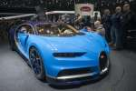 Au 86e Salon international de l'automobile de Genève, Bugatti dévoile la Chiron,  fabriquée en Alsace.