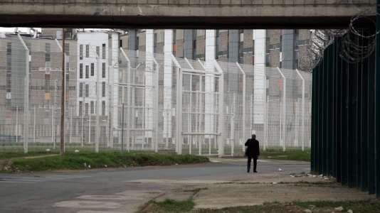 La prison de Fleury-Mérogis (Essonne), un monstre architectural de béton.