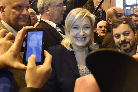 Marine Le Pen, le 1er mars au Salon de l'agriculture.