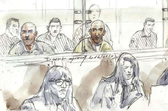 Le braqueur, passionné de films de gangsters, est entendu mercredi à la cour d'assises de Paris, où il sera interrogé sur sa personnalité, mais pas sur les faits qui lui sont reprochés. / AFP / BENOIT PEYRUCQ