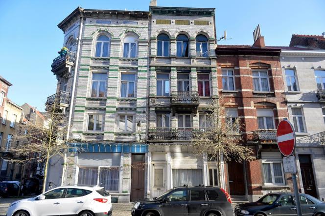 La maison où Salah Abdeslam s'est réfugié après les attentats du 13 novembre, à Bruxelles, le 8 janvier.