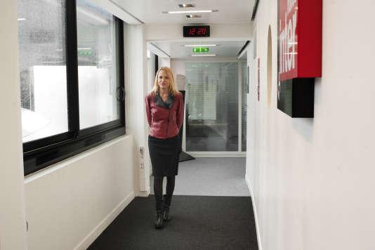Laure Adler, à la Maison de la radio, le 10 février 2016.