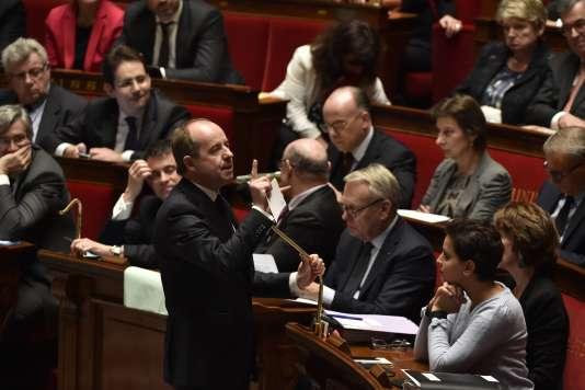 Le ministre de la justice, Jean-Jacques Urvoas, lors d'une séance de questions au gouvernement, le 2mars.