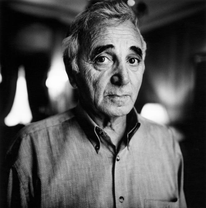 Charles Aznavour, à Paris, en 2005.