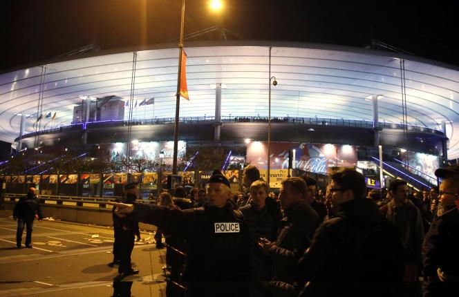 Le stade de France, le soir des attentats du 13 novembre 2015.