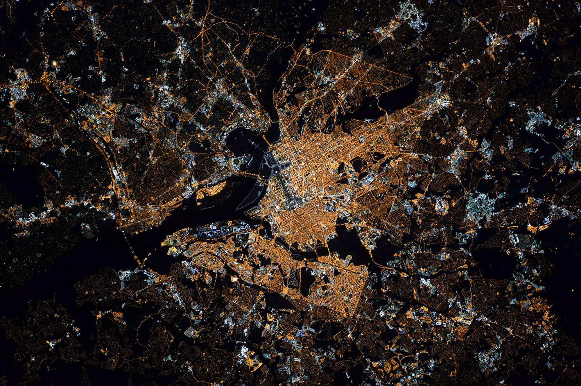 La ville de Washington, de nuit.