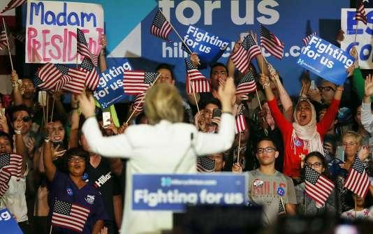La candidate républicaine Hillary Clinton à Miami, le 1er mars.