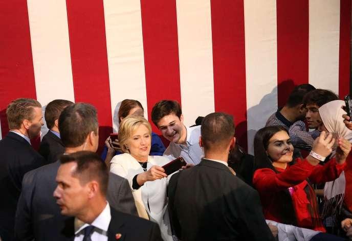 Hillary Clinton pendant un meeting à Miami (Floride), le 1er mars.
