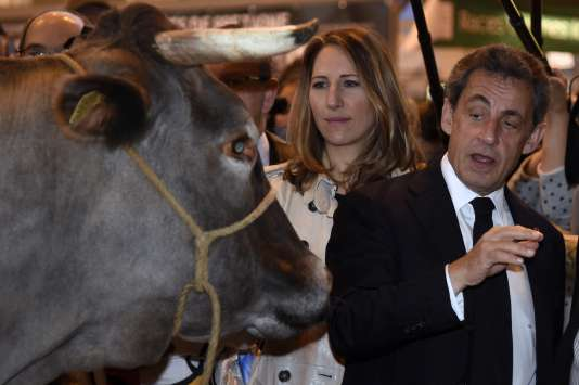Nicolas Sarkozy au salon de l'agriculture mercredi 2 mars.