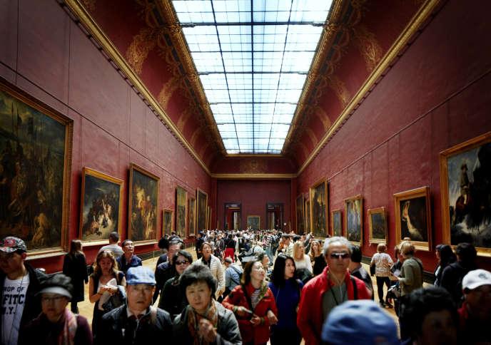 Au Musée du Louvre, à Paris, en2014.