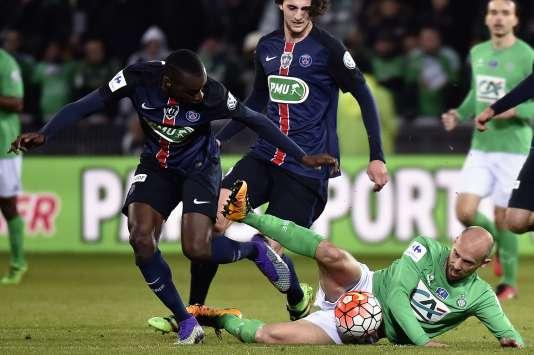 Blaise Matuidi était sorti blessé, lors d'une rencontre de Coupe de France contre Saint-Etienne.