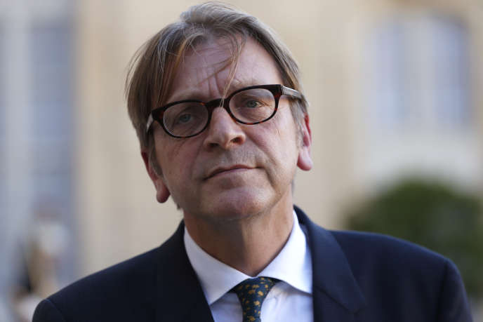Guy Verhofstadt, en septembre 2015 à Paris.