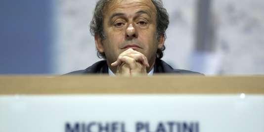 Michel Platini à Zurich, le 2 mars.