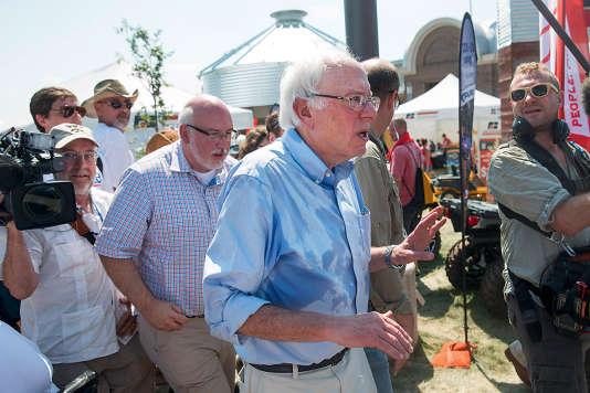En campagne pour la primaire démocrate à Des Moines (Iowa), le 15 août 2015.