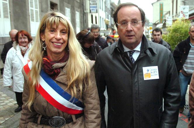 Sophie Dessus et François Hollande en 2008.